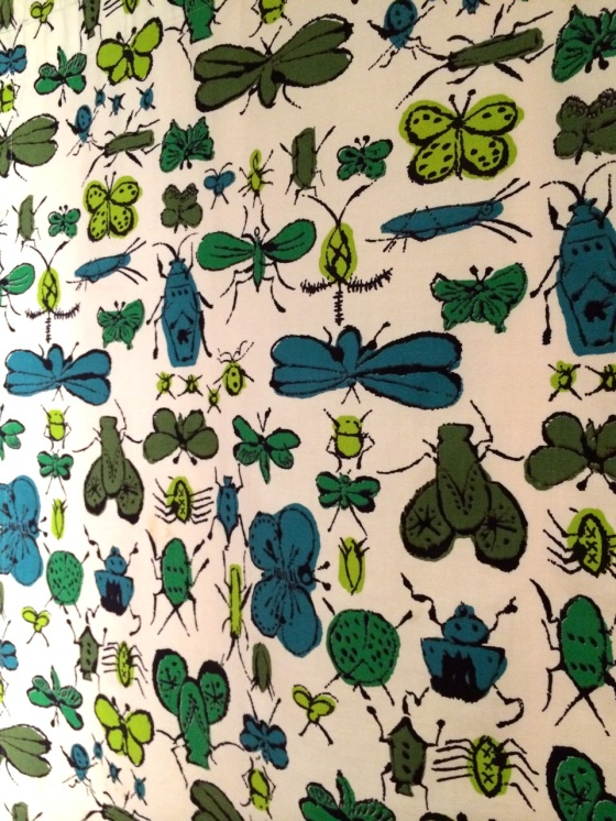 Andy Warhol, 'Happy Bug Day', screen-printed cotton fashion textile, mid-1950s.